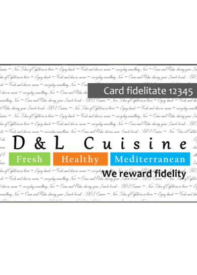 Apply for D&L Cuisine Fidelity Card